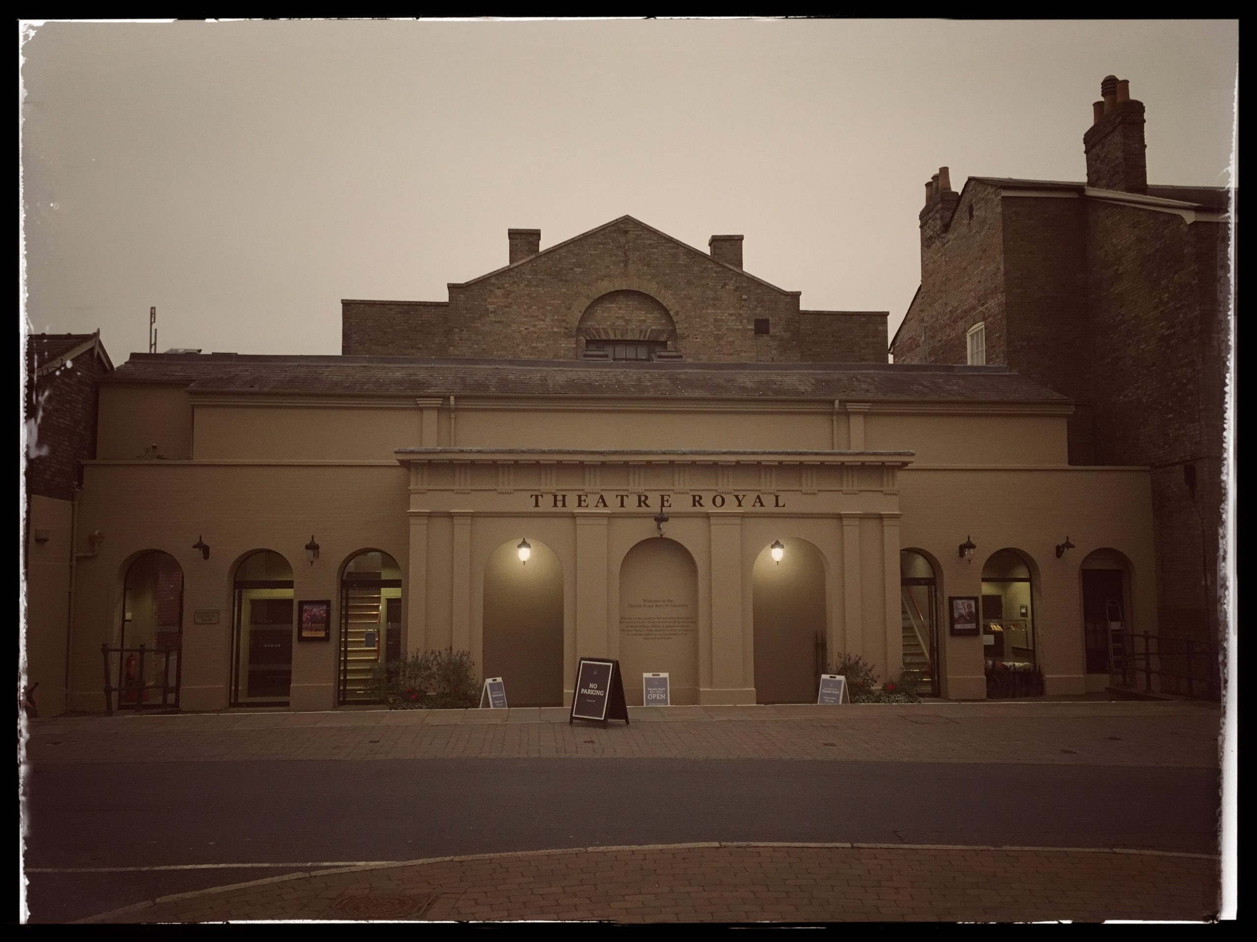 Front Facade of Theatre Royal Bury St Edmunds