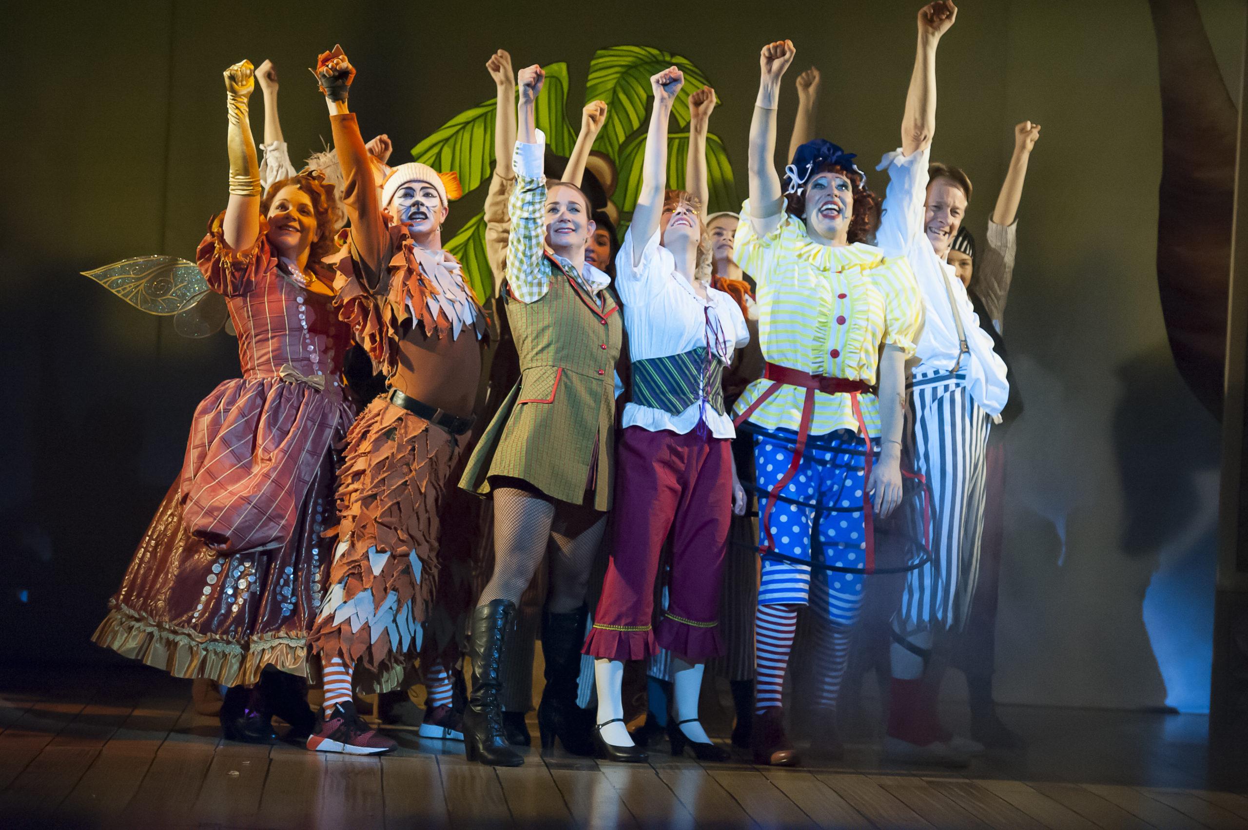 Dick Whittington full cast victory scene, 2017 pantomime